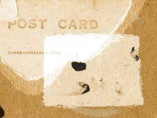 Free Grunge Poscard Background - Sepia Royalty Free Stock Images - 1502979