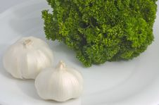 Free Garlic And Parsley Royalty Free Stock Photos - 1503378