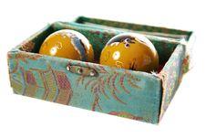 Massage Balls Royalty Free Stock Photography