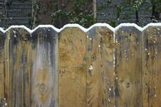 Snow On Top Of Fence Royalty Free Stock Image