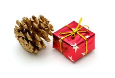 Free Gift And Pine Cone Royalty Free Stock Images - 1505399