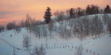 Free Daybreak Over Winter Scene Stock Photos - 1505783