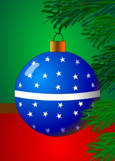 Free Christmas Ornament Blue Stock Photo - 1506060
