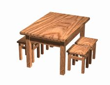 Free Table With Stools Royalty Free Stock Images - 1506989
