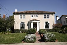 Classic Home On The Peninsula Of California South Of San Francis Stock Photos