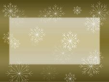 Snowflake On Gold Card Royalty Free Stock Photo