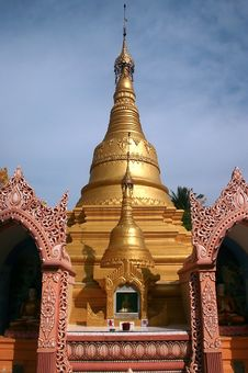 Burmese Pagoda Stock Image