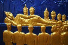 Free Reclining Buddha Wall Pattern Royalty Free Stock Photography - 1508767