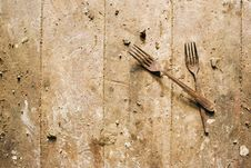 Free Rusty Forks Royalty Free Stock Images - 1509119