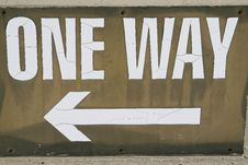 Free One Way Stock Images - 1509494