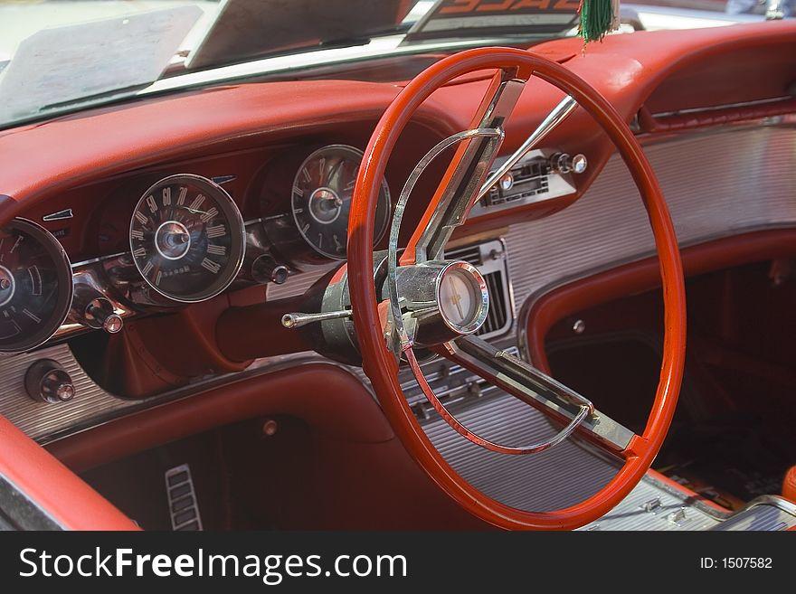 Red Classic Steering Wheel