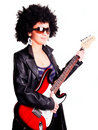 Free Young Guitarist Girl Holding Guitar Royalty Free Stock Photography - 15001217