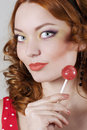 Free Woman Holding Candy Stock Photos - 15007963