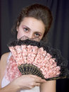 Free Girl With A Fan Stock Photos - 15008583