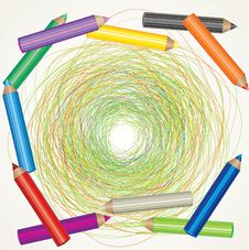 Free Drawing And Color Pencils Stock Photography - 15000562