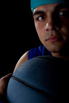 Free Young Basketball Player Royalty Free Stock Images - 15000789
