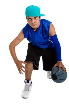 Free Young Basketball Player Royalty Free Stock Photos - 15000798