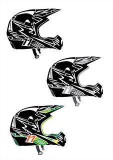 Motocross Helmets Royalty Free Stock Images
