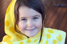 Free Girl With Hooded Towel Stock Images - 15001634
