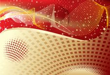 Free Abstract Golden Wave Background Stock Image - 15002511