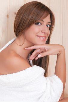 Sensual Woman With Bathrove Royalty Free Stock Photos