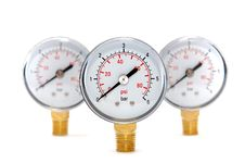 Free Three Measuring Devices On A White Stock Image - 15002871