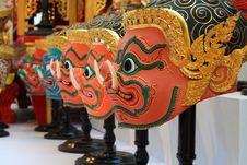 Free Thai Demon Face Stock Photo - 15003160