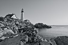 Free Portland Head LIght Royalty Free Stock Images - 15003309