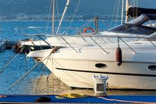 Free Luxury Yachts Anchored In Small Stock Photo - 15003970