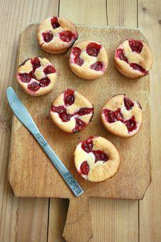 Cherry Muffin Royalty Free Stock Photo