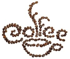 Free Sign Made Withe Coffee Beans Royalty Free Stock Photo - 15004705