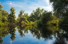 Free Summer Beautiful River Landscape Danube Stock Image - 15004981
