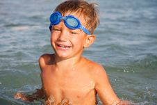 Free Happy Boy In Water Stock Photos - 15005543
