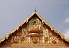 Free Laos Temple Facade Stock Image - 15005611