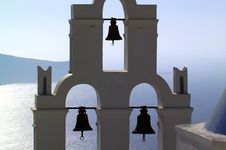 Free Greece Santorini Lagoon With Bells Stock Photo - 15005860