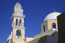 Free Greece Santorini Lagoon Tower Royalty Free Stock Photo - 15005895
