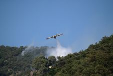 Canadair Plane To Fire Royalty Free Stock Image