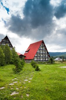 Free Mountain Hut Before Storm Stock Images - 15006154