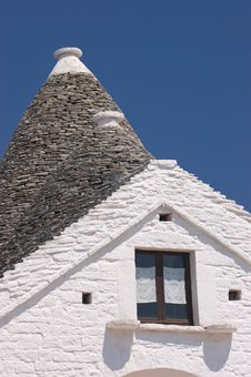 Free Trulli Roof Against Vivid Blue Sky Stock Photos - 15006393