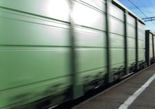 Free Boxcar In Motion Royalty Free Stock Photo - 15006495