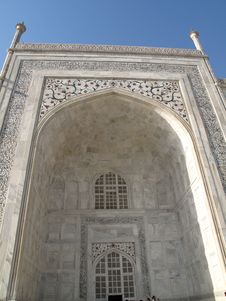 Free Taj Mahal Entrance Stock Photography - 15006582