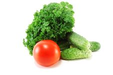 Free Fresh Vegetables With Parsley Foliage Stock Photo - 15006700