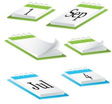 Desk Calendar. Vector Illustration Royalty Free Stock Photo