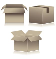 Free Brown Cardboard Shipping Boxes. Royalty Free Stock Photos - 15006918