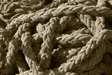 Free Tangled Pile Of Thick, Frayed Rope Royalty Free Stock Images - 15007059