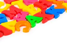 Free Multicolored Toy Letters Stock Photos - 15007323