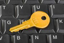 Computer Keyboard And Key Royalty Free Stock Photo