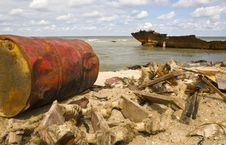 Free Debris On A Seacoast Stock Images - 15007424