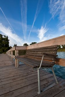 Wooden Pier Royalty Free Stock Photo