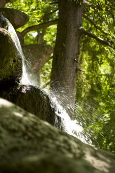 Free Close Up View Of The Little Waterfall Royalty Free Stock Image - 15007436